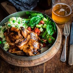 Zingy BBQ Chicken with Smashed Potatoes and Peas By Nadia Lim