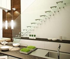 modern glass staircase design glass treads and banister airy floating look