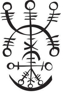 Icelandic magical staves (sigils) are symbols credited with magical effect… Protection Symbols, Symbols And Meanings, Viking Symbols, Ancient Symbols, Viking Tattoo Symbol, Norse Tattoo, Viking Tattoos, Norse Runes, Viking Runes