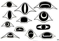 Northwest coast art shapes   Symbols of Northwest Native Americans
