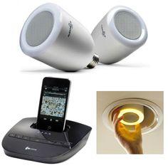 AudioBulb. Wireless speaker llghtbulbs