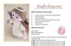 Come fare un #angelo a #uncinetto da regalare a Natale: spiegazioni e schema in italiano, passo-passo per le decorazioni ricamate.