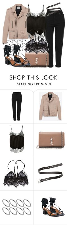 """Untitled #2560"" by mandyzng ❤ liked on Polyvore featuring Topshop, Yves Saint Laurent, Givenchy, For Love & Lemons, Acne Studios, ASOS and Valentino"