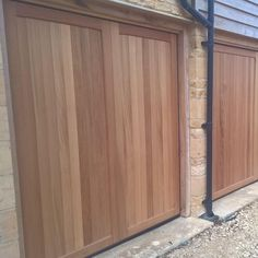 Completed garage door installation projects by Elite Garage Doors, Oxfordshire. Timber Garage Door, Double Garage Door, Double Doors Exterior, Garage Organisation, Building A Garage, Garage Door Installation, Garage Door Makeover, Modern Garage, Wooden Doors
