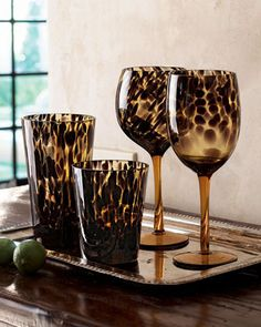 Tortoise Glassware from Horchow. Saved to Horchow. Shop more products from Horchow on Wanelo. Animal Print Decor, Animal Print Fashion, Animal Prints, Leopard Prints, Cheetah Print, Leopard Spots, Wine Goblets, Tortoise Shell, Tortoise Care