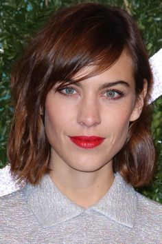 Alexa Chung Chops Her Hair Into A Short Bob For The British Fashion Awards, 2014