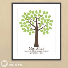 Teacher thumbprint tree