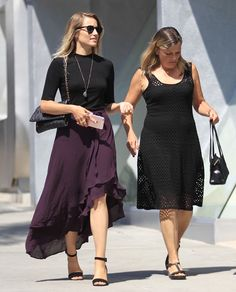 """Dianna Agron in Beverly Hills with her mom (September 21, 2016) """