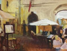 "'Orvieto I' by Jo Cataldo | $250 | 12""w x 9""h | Original Art | http://www.arttwo50.com/buy/art/orvieto-i"
