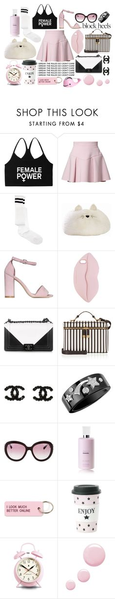 """""""Untitled #118"""" by disneygrande ❤ liked on Polyvore featuring Just Cavalli, ASOS, PBteen, Nly Shoes, STELLA McCARTNEY, Chanel, Henri Bendel, Various Projects, Miss Étoile and Newgate"""