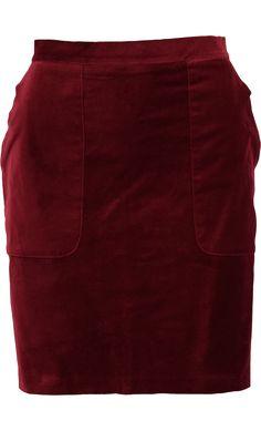 Nieuw! :: Leyla uni skirt beet red - King Louie