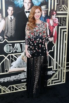 Red Carpet for Great Gatsby Premiere: Isla Fisher in Dolce & Gabbana