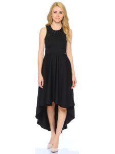 Нарядное платье - Черное платье с ассиметричным низом Mohito