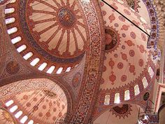 Geometric structures within the Blue Mosque in Turkey from origamiblog.com