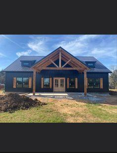 Metal Building House Plans, Pole Barn House Plans, Pole Barn Homes, New House Plans, Dream House Plans, Metal Barn Homes, Shed Homes, Dream House Exterior, Farmhouse Plans