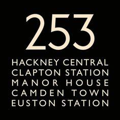 London Bus Blind Bus Route 253