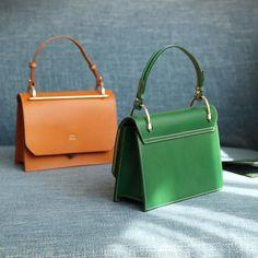 Womens Small Satchel Handbags Leather Flap Over Square Crossbody Bag P Crossbody Saddle Bag, Latest Handbags, Classic Handbags, Leather Satchel Handbags, Fashion Bags, Fashion Handbags, Purses And Bags, Shoulder Bag, Versace Handbags