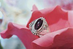 Hey, I found this really awesome Etsy listing at https://www.etsy.com/listing/246648352/genuine-garnet-ring-rhodolite-cabochon
