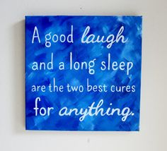 Inspirational Quote Art Wall Sayings - A Good Laugh Canvas Wall Art - Words of Wisdom Paintings with Quotes - Painted Canvas Quotes Art