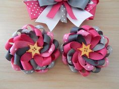 Cowgirl Princess Pink Hair Bow & Clips Set - ColorfulBows - 4