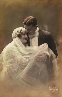 edwardian bride and groom