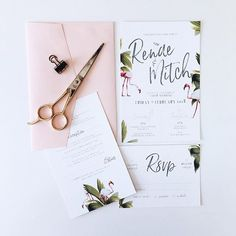 Pink Flamingos; nature's gift to event designers  fun + festive pieces for R+M #weddinginvitation #weddinginvitations #wetellyourstory #Regram via @story_of_us