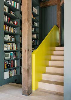 new york hudson valley barn retreat - library
