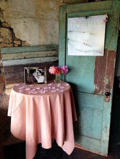 Rustic engagement/wedding event decor
