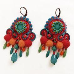 Luzon kolczyki sutasz | Etsy Soutache Earrings, Crochet Earrings, Drop Earrings, Art Nouveau, Czech Glass Beads, Leather Earrings, Cool Designs, Embroidery, Christmas Ornaments