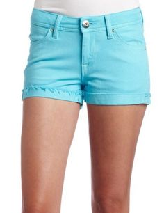 Dl1961 Women's Cameron Pin-Up Short DL1961. $73.50. Machine Wash. 8 1/2 inch front rise. Made in Pakistan. 2 inch inseam. Bright blue color with tonal stitching. 55% Cotton/ 45% Polyester. Cuffed with raw edge hem
