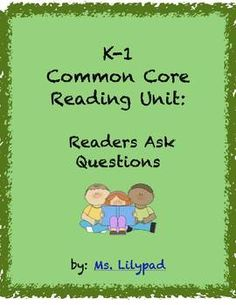 Reading comprehension minilessons to teach students how to ask questions, when to ask questions, and why to ask questions.  Important Common Core skills! $