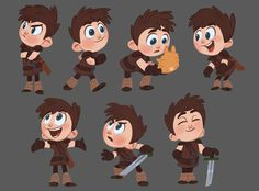 Character Poses by jdelgado on DeviantArt Boy Character, Character Concept, Concept Art, Character Ideas, Cartoon Kunst, Cartoon Art, Anime Child, Poses References, Animation