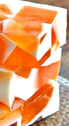 Orange Dreamsicle Jello Squares