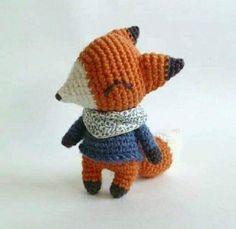 Scrap Crochet, Crochet Case, Crochet Fox, Cute Crochet, Crochet Animals, Crochet Patterns Amigurumi, Amigurumi Doll, Crochet Dolls, Zou
