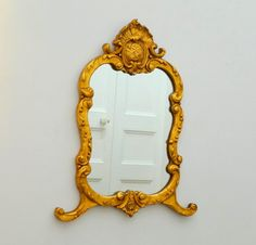 Large Antique French Gold Gilt Mirror in Good by Decofanatique, $159.00