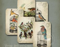 Vintage Sewing Cards Sepia Image Collage Sheet by DigitalAntiques