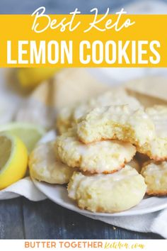 This easy keto lemon cookie recipe with lemon icing is amazing! This will be your new favorite summer keto cookie! It is amazing these cookies are low carb, sugar free, and keto friendly. Everyone will be asking your for this easy recipe! #keto #ketorecipes #recipes #desserts #lemon #cookies #healthy #healthyrecipes #ketodesserts #sugarfree #ketolemoncookies Lemon Cookies, Yummy Cookies, Fun Desserts, Dessert Recipes, Lemon Icing, Southern Desserts, Delicious Cookie Recipes, Snowball Cookies, Crinkle Cookies