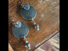 How To Make Mixed Metal Cold Connection Earrings with The Bead Place - YouTube