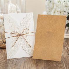 Laser Cutting Wedding Invitation Card With Hemp Rope Birthday Invitations With Personalized Inner Sheet Pk14113 Wedding Invitation Templates Free Wedding Invitations Cards From Madechinas, $1.21| Dhgate.Com
