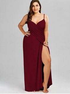 47db03fc6e5 Plus Size Flowy Cover Up Wrap Dress - WINE RED - 3XL Plus Size Christmas  Dresses