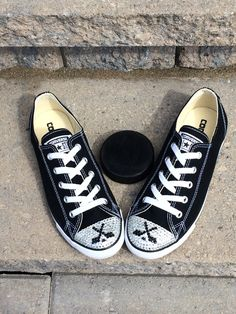 Hockey Blinged Converse Low Top Shoes. Girl's Custom Shoes for Hockey Players…
