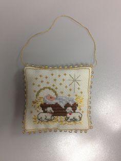 Cross Stitch Nativity Ornament
