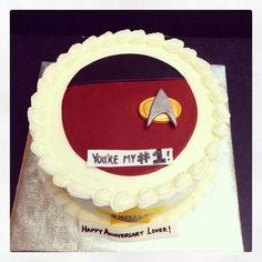 Star Trek anniversary cake.