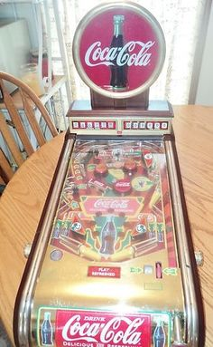 1996 COCA-COLA TABLE TOP PINBALL MACHINE PRODUCED BY FRANKLIN MINT