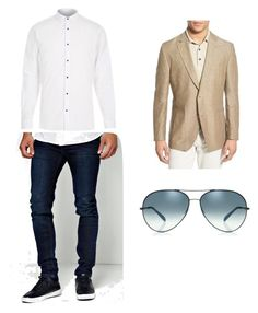 """""""Untitled #6"""" by francesca-victoria-gonzalez ❤ liked on Polyvore featuring BoohooMAN, River Island, Kroon, Oliver Peoples, men's fashion and menswear"""
