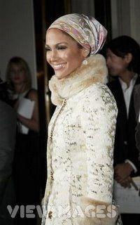 Jennifer Lopez Scarf hijab look