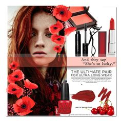 """""""Pretty little face"""" by iris03015 ❤ liked on Polyvore featuring beauty, Jouer, Urban Decay, Bobbi Brown Cosmetics, Maybelline, Chanel, OPI, BeautyTrend, beautiful and redlips"""