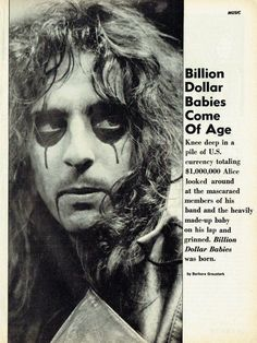 April 1973 Circus Magazine 1973 (Billion Dollar Babies) part one Alice Sweet Alice, Go Ask Alice, Alice Cooper, Rock Hall Of Fame, Advertising History, Him Band, Blues Rock, Through The Looking Glass, The Villain