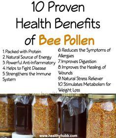 10 Proven Health Benefits of Bee Pollen! #superfood #organic #wellness