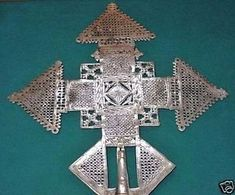 Handmade Ethiopian Orthodox Christian Metal Processional Cross Ethiopia, Africa   eBay